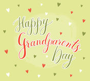Dia feliz da avó do cartão do vetor Foto de Stock Royalty Free