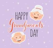 Dia feliz da avó do cartão do vetor Imagens de Stock Royalty Free