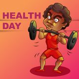Dia feliz da saúde ilustração do vetor