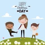 Dia feliz das crianças Fotografia de Stock Royalty Free