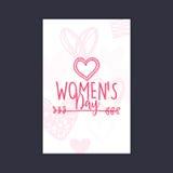 Dia feliz das mulheres ilustração royalty free