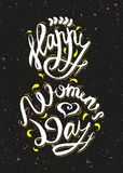 Dia feliz das mulheres o 8 de março ilustração do vetor