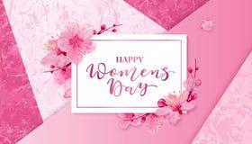 Dia feliz das mulheres s 8 de março com flores Foto de Stock