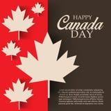 Dia feliz de Canadá Fotos de Stock