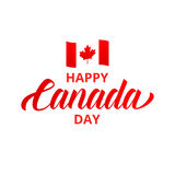 Dia feliz de Canadá Tipografia feliz do dia de Canadá Fotos de Stock Royalty Free