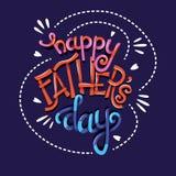 Dia feliz de Father's, mão que rotula o projeto moderno do cartaz da tipografia fotografia de stock royalty free