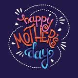 Dia feliz de Mother's, mão que rotula o projeto moderno do cartaz da tipografia fotografia de stock
