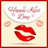 Dia feliz do beijo Fotos de Stock Royalty Free