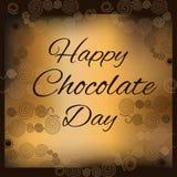 Dia feliz do chocolate Fotos de Stock Royalty Free