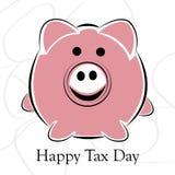 Dia feliz do imposto Foto de Stock