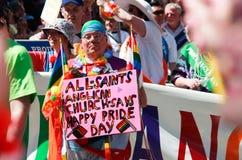 Dia feliz do orgulho -- Orgulho do arco-íris de Toronto Imagens de Stock Royalty Free