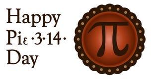 Dia feliz do pi, o 14 de março ilustração royalty free