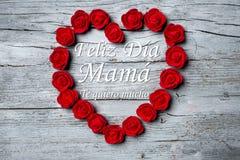Dia feliz do ` s da mãe, língua espanhola Fotos de Stock
