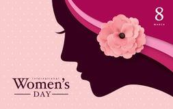 Dia feliz do ` s das mulheres ilustração stock