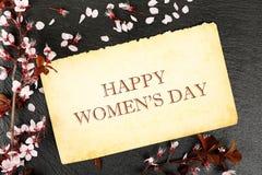 Dia feliz do ` s das mulheres Imagem de Stock Royalty Free