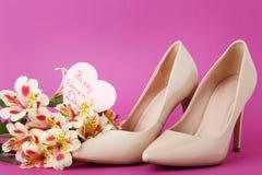 Dia feliz do ` s das mulheres da inscrição Foto de Stock Royalty Free