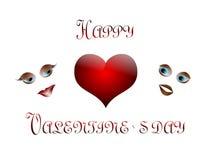Dia feliz do `s do Valentim Fotografia de Stock Royalty Free