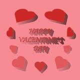 Dia feliz do ` s do Valentim do cartão Imagens de Stock Royalty Free