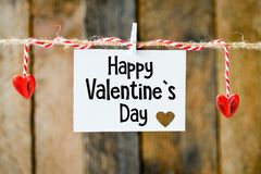 Dia feliz do `s do Valentim Fotos de Stock Royalty Free