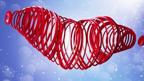 Dia feliz do `s do Valentim Cumprimentos video ao dia do ` s do Valentim No centro de um coração vermelho 4K ilustração royalty free