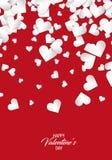 Dia feliz do `s do Valentim Fundo do coração Imagem de Stock Royalty Free