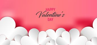 Dia feliz do `s do Valentim Fundo do coração Foto de Stock