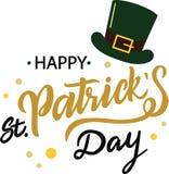 Dia feliz do St Patricks ilustração stock