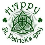 Dia feliz do St Patricks Teste padrão do Celtic do vetor ilustração royalty free