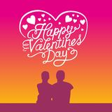 Dia feliz do Valentim ilustração do vetor