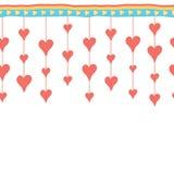 Dia feliz do Valentim Beira tirada mão ilustração royalty free