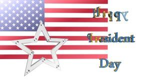 Dia feliz dos presidentes, animação ilustração royalty free