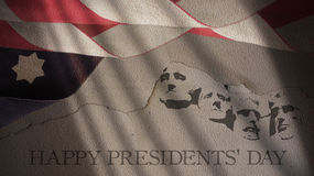 Dia feliz dos presidentes Bandeira de América imagem de stock royalty free