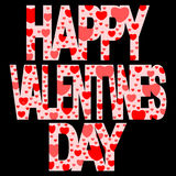 Dia feliz dos Valentim Fotos de Stock