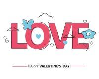 Dia feliz dos Valentim Fotografia de Stock Royalty Free