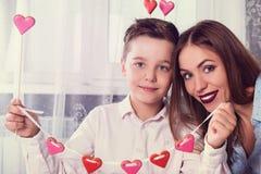 Dia feliz dos Valentim, da mãe ou da mulher Fotografia de Stock