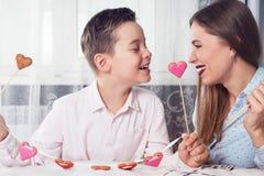 Dia feliz dos Valentim, da mãe ou da mulher Foto de Stock