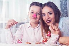 Dia feliz dos Valentim, da mãe ou da mulher Imagem de Stock Royalty Free