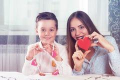 Dia feliz dos Valentim, da mãe ou da mulher Fotos de Stock Royalty Free