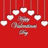Dia feliz dos Valentim Frase do cumprimento Imagens de Stock Royalty Free