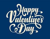 Dia feliz dos Valentim Texto caligráfico Foto de Stock
