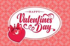 Dia feliz dos Valentim Texto caligráfico Imagens de Stock