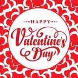 Dia feliz dos Valentim Texto caligráfico Imagem de Stock Royalty Free
