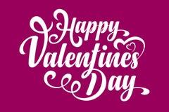 Dia feliz dos Valentim Texto caligráfico Imagem de Stock