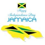 Dia feliz jamaica do indepedence da bandeira do projeto da ilustração ilustração royalty free