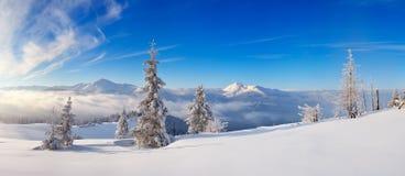 Dia gelado nas montanhas Fotografia de Stock Royalty Free