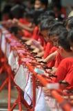 Dia Handwashing global em Indonésia Imagem de Stock