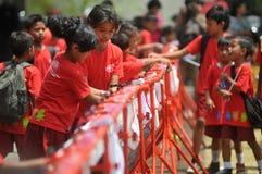 Dia Handwashing global em Indonésia Imagens de Stock