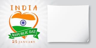 Dia Idia da república, cumprimentando o 26 de janeiro a bandeira Imagens de Stock Royalty Free
