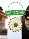Dia il benvenuto a a casa Fotografia Stock
