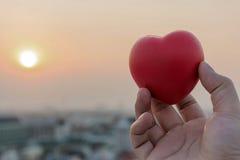 Dia il cuore di amore a disposizione immagini stock libere da diritti